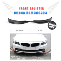 2PCS/Set Carbon Fiber Front Bumper Lip Splitters Aprons Flaps For BMW E89 Z4 2009 2013 Car Styling