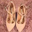 Brilho Sapatos de Casamento Dedo Apontado Elegante Salto Fino Fivela Cinta T Mulher De Salto Alto - 5