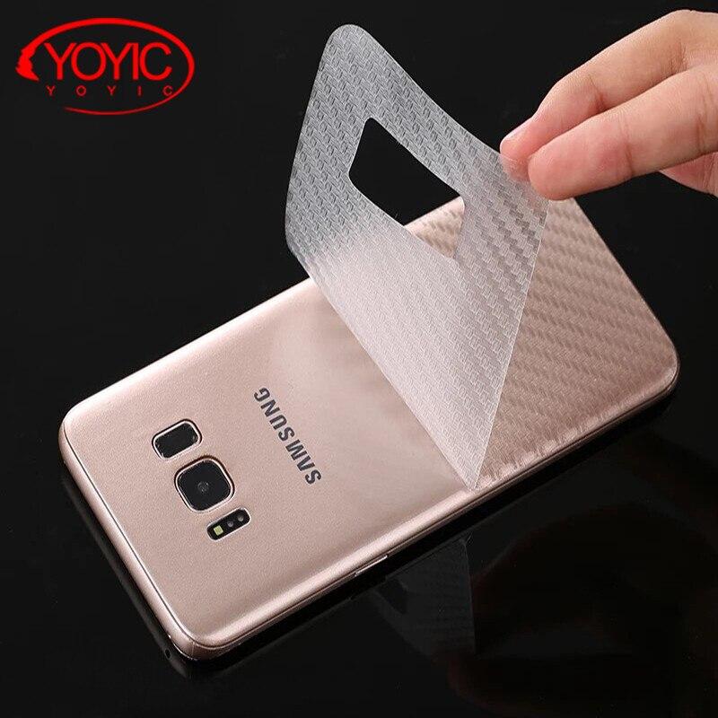 Fibra del carbonio 3D Film Morbido Per Samsung Galaxy S8 S8 più Chiara Antigraffio protezione Pellicola Posteriore Per Samsung Note 8 Screen Protector