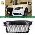 Z-ART 09-12 A4 Черный Цвет ABS Переднего Бампера Мед сетки Гриль решетка С Парковочные Датчики для Audi A4 S4 RS4 B8 8 К Avant