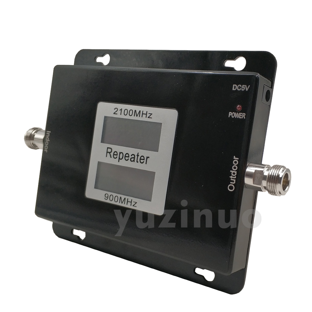 Image 5 - 65dB Gain 17dBm AGC Dual Band Repeater Band 8 GSM 900 LTE Band 1 3G UMTS WCDMA 2100mhz Cellular Mobile Signal Booster Amplifier-in Signal Boosters from Cellphones & Telecommunications