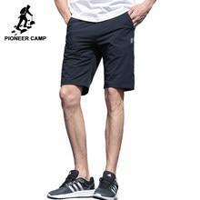 Pioneer Camp verão shorts homens marca-roupas sólido macio curto masculino  top quality casual estiramento 7377bf501a975