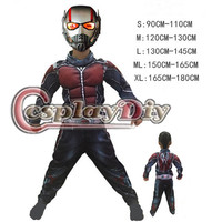 Child Deluxe Ant Man Muscle Costume Boys Superhero Cosplay Halloween Fancy Dress Outfit For Kids D1006