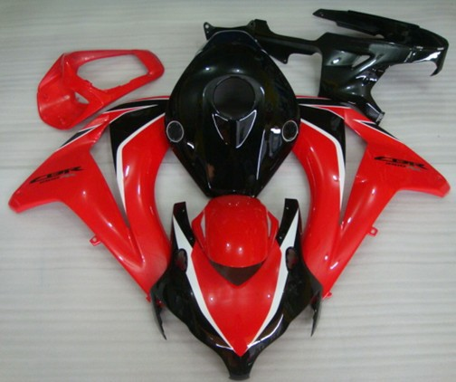 Hot Sales,08 09 10 11 For Honda CBR1000RR Fireblade 2008-2011 Red & Black replacement Fairings For Motorbike (Injection molding) arashi motorcycle radiator grille protective cover grill guard protector for 2008 2009 2010 2011 honda cbr1000rr cbr 1000 rr