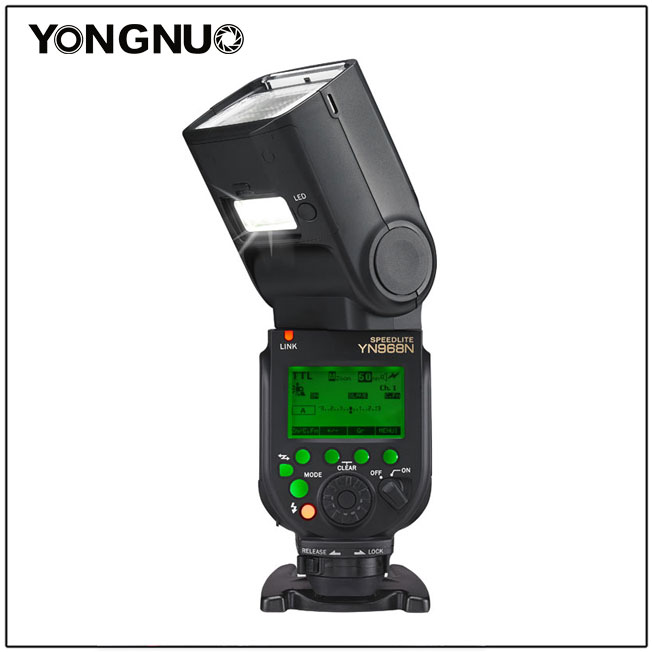 YONGNUO YN968N Wireless Flash Speedlite TTL 1/8000 Equipped with LED for Nikon DSLR Compatible with YN622N YN560 yongnuo yn 565ex n flash speedlite yn565ex n i ttl light for nikon dslr camera or pixel vertax d17 battery grip for nikon d500