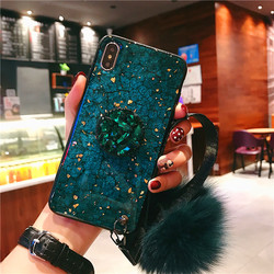 Phone Case For iPhone 8 7 6 6s Plus Case iPhone X XS Max XR Luxury Glaring Sparkle Bling Diamond Stand lanyard Hard PC+TPU Cover 2