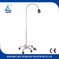 New 50w Surgical Medical Exam Light halogen Examination Lamp with goose neck mobile type free shipping 1set
