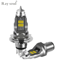 Motorcycle LED Headlight Bulbs BA20D H4 HS1 36w 7500K Led DC 12V 4000lm Accessories Motor Fog Lights