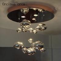 Современный простой стекла ручной работы кулон лампы свет Бурлящий шарик линия лампа спальня ресторан оригинальность мода потолочный свет