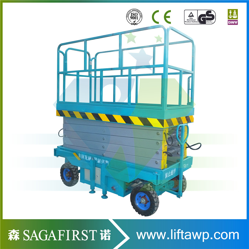 High End  Mobile Scissor Lift Allelectric Components With Waterproof Design