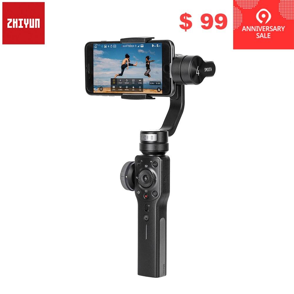 Zhiyun Lisse 4 Q 3-Axes De Poche Smartphone stabilisateur de cardan pour iPhone XS XR X 8 Plus 8 7 P 7 Samsung S9 S8 S7 & caméra d'action