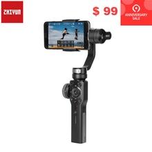 Zhiyun гладкой 4 Q 3 оси Ручной Стабилизатор на шарнирном замке для смартфона для iPhone XS XR X 8 плюс 8 7 P 7 samsung S9 S8 S7 и действие Камера