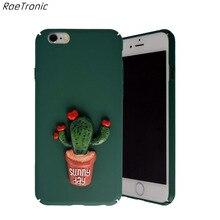 RaeTronic Симпатичные 3D Растения Кактус Телефон Чехол Для iPhone 6 Жесткий пластиковый Защитный Чехол для iPhone 6 s 6 6 s Плюс Коке Fundas 021C