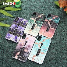 IMIDO Hide Ring Stand Holder Phone Case For iPhone 7 Plus Diamond Soft TPU Cover For iPhone X XR XS MAX 8 7 6 6S Plus Coque Capa цена и фото