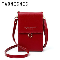 TAOMICMIC Multi functional Shoulder Bags crossbody bags For Women Brand Ladies Small Cellphone bag Clutch Purse Pocket Mini Bag