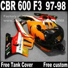 Мотоцикл части для HONDA CBR 600 F3 обтекатели 1997 1998 CBR600 F3 97 98 красный черный желтый REPSOL пользовательские обтекателя комплект
