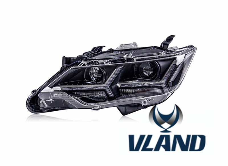 VLAND производитель для автомобиля фара для camry светодиодный фары 2015 2016 2017 головной свет с ксеноновой HID объектив проектора и день