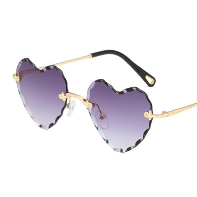 Phoemix Heart Rimless Modis Sunglasses Oculos Vintage