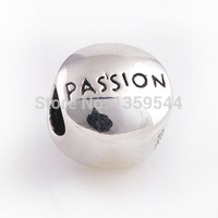 Everbling Jewelry PASSION Clear CZ Heart 100 925 Sterling Silver Charm Bead Fits Pandora European Charms