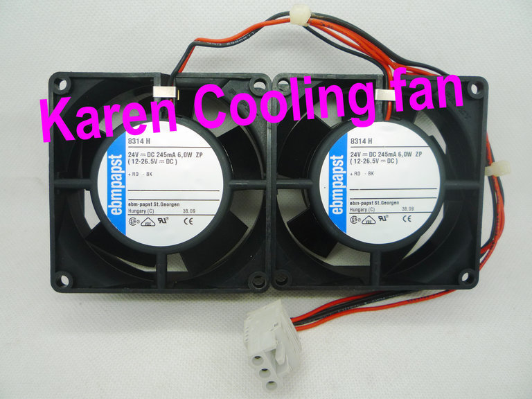 NEW ORIGINAL EBM PAPST 8cm  8314H 8032 24v 6w 2wire Cooling fan 80*80*32mm new original ebm papst 9906l 9906 l ac 115v 120ma 100ma 9w 8w 120x120x25mm axial cooling fan