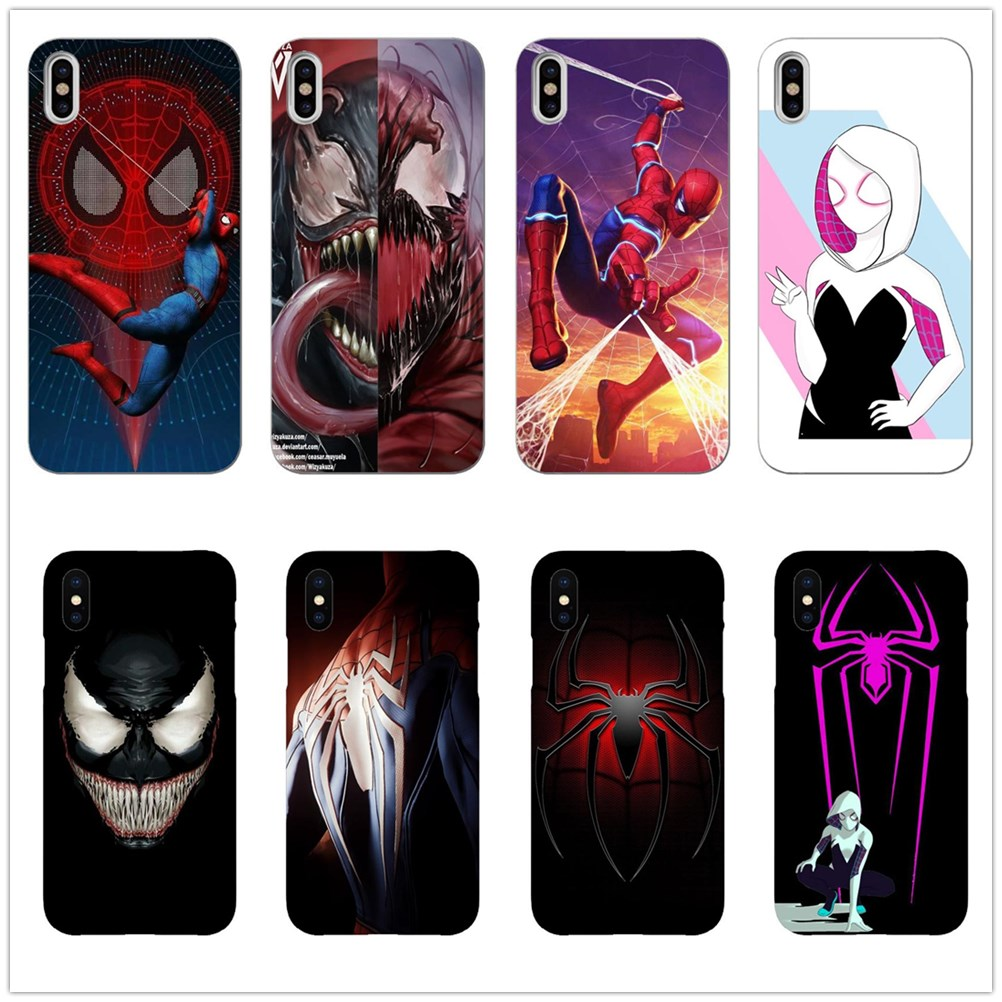 Marvel Venom VS Spider-Gwen Soft Phone Case for iPhone 5 S SE X Phone Cover For iPhone 6s 6 7 8 Plus XS Max XR Coque marvel glass iphone case