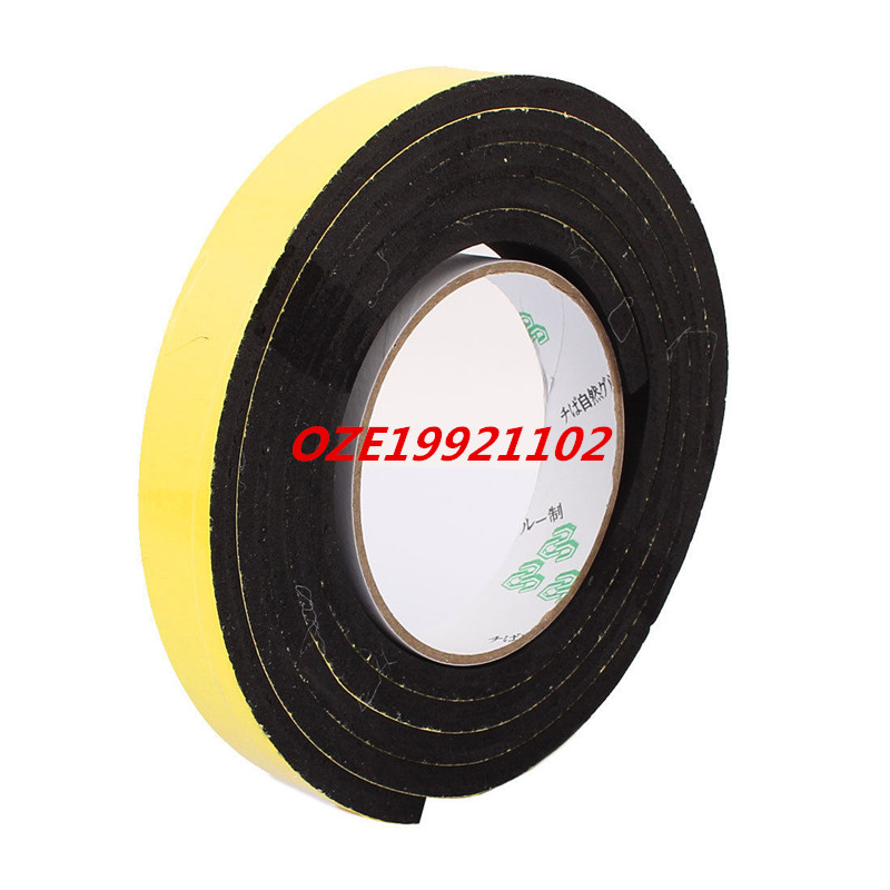 20 x 6mm Single Sided Self Adhesive Shockproof Sponge Foam Tape 2M Length 12 x 10mm single sided self adhesive shockproof sponge foam tape 2m length
