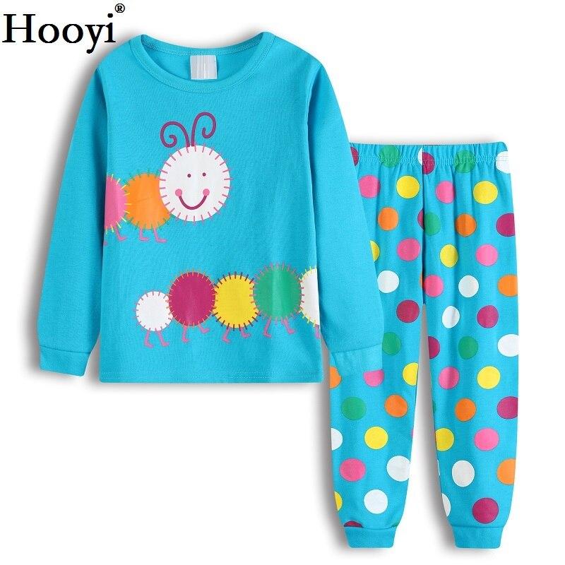 Ladybug Girl Clothes Suits Embroidery Cotton Baby Girls Pajamas Print Children Sleepwear Cartoon Pyjamas T-Shirt + Pant 2PCS Set 6