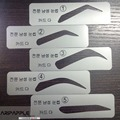 5Pcs  Eyebrow Stencils 5 Types  Eyebrow Stencils For Man Eyebrow Template Make up Tools Stencils  Free Shipping