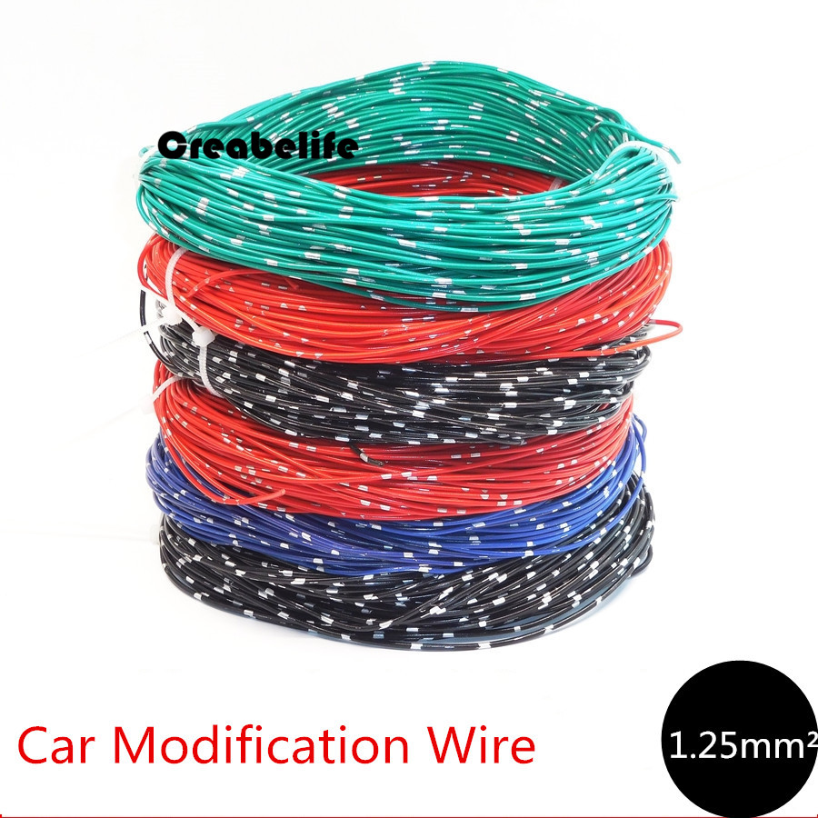 wiring harness wire promotion shop for promotional wiring harness 1 25mm square car motorcycle modification wire cable pure copper retardant harness special wire resist high and low temperature