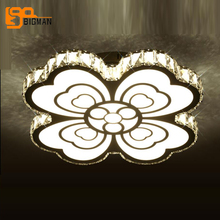 ФОТО beautiful design led ceiling lights modern crystal lamp dia60*h15cm lustre cristal bedroom lighting