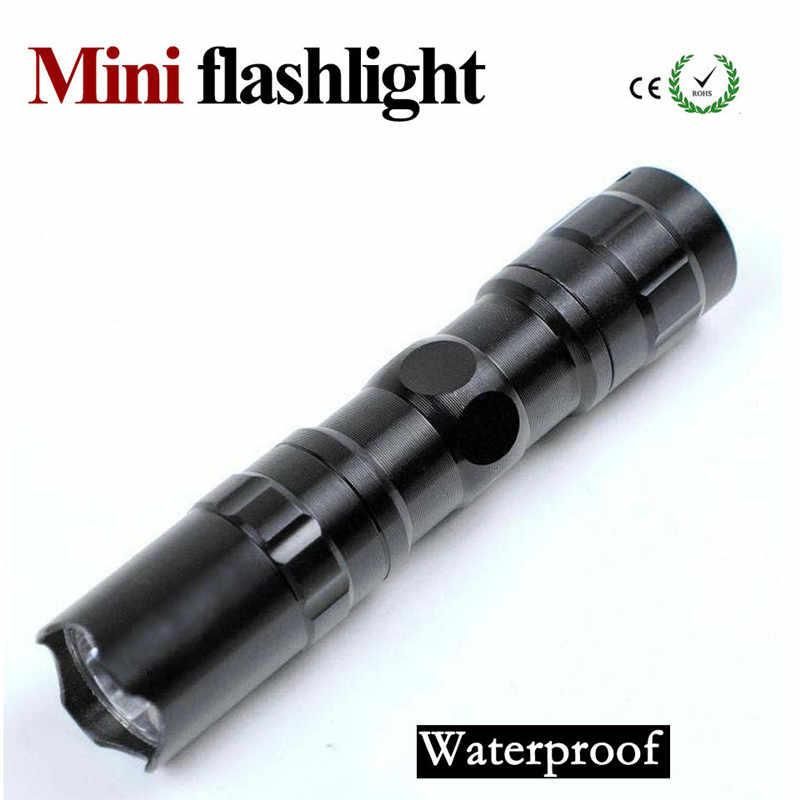 E17 светодиодный фонарик с функцией масштабирования фонарь Водонепроницаемый фонарь XM-L T6 Q5 3800LM 3 режима 5 Режим светодиодный Масштабируемые Свет батарея Бесплатная доставка