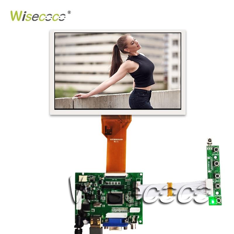 """מערכות ניווט Wisecoco 7.0"""" אינץ צג LCD פטל Pi מסך TFT LCD Monitor AT070TN90 92 94 + לוח הבקר TY2662-V1 Driver (1)"""