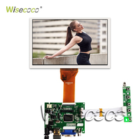 Wisecoco 7.0 inch Raspberry Pi LCD Display Screen TFT LCD Monitor AT070TN90 92 94 + TY2662 V1 Driver controller Board