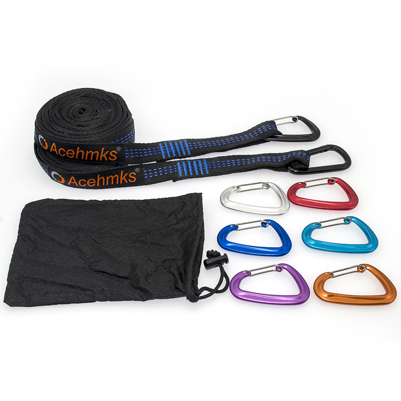 Super Strong Hammock Strap Aluminium Hanging Hammock Belt Acehmks For Camping,Traveling,Portable Hanging Tree Rope Free Shipping