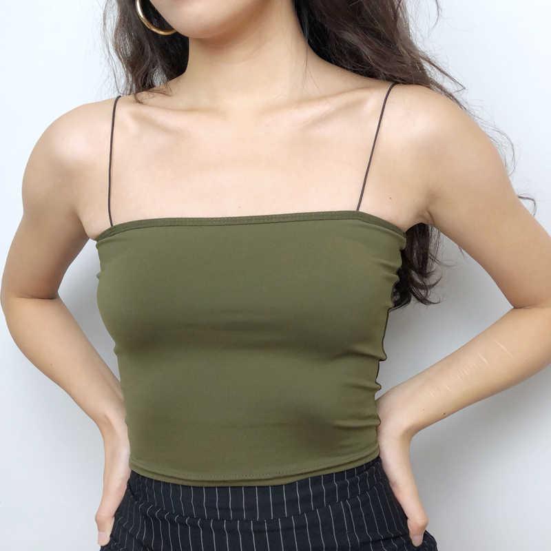 Vrouwen Crop Cami Top Bandeau Top Basic Camis Top