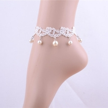 anklet hand for diy accessories fashion lace bride aesthetic anklets fashion accessories