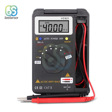 VC921 Handheld Mini LCD Digital Multimeter True-RMS Auto Range Frequency AC/DC Voltage Resistance Capacitance Tester 4000 Counts