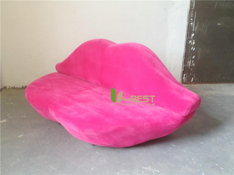 Pink Lip Sofa fabric sofa (2)