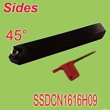 Free Shiping SSDCN 16 16 100mm SHK16MM 45 Degree External Screw Down Locked Lathe Tool Holder