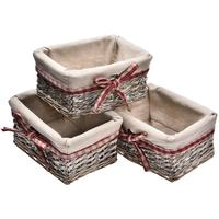 4pcs Wicker Storage Basket With Lid Covered Rattan Storage Box Drawer Clothes Cosmetics Organization