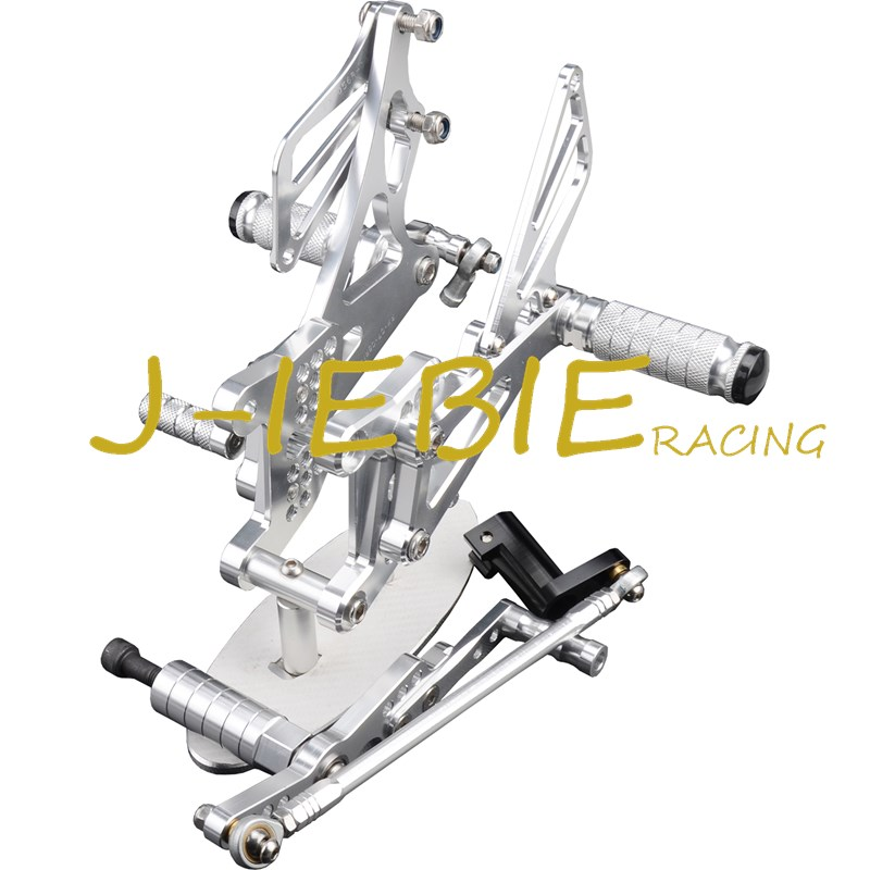 CNC Racing Rearset Adjustable Rear Sets Foot pegs Fit For Yamaha YZF R1 2007 2008 SILVER morais r the hundred foot journey