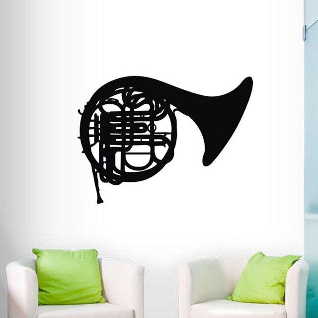 Trombone Musical Instruments Wall Stickers Home Decor Music Room Decals Vinyl Art Wallpaper