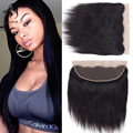 "Queen Hair Brazilian Virgin Hair Straight Lace Frontal Closure 13""x4"" Virgin 6""-22"" Full Lace Frontal Brazilian Straight Closure"
