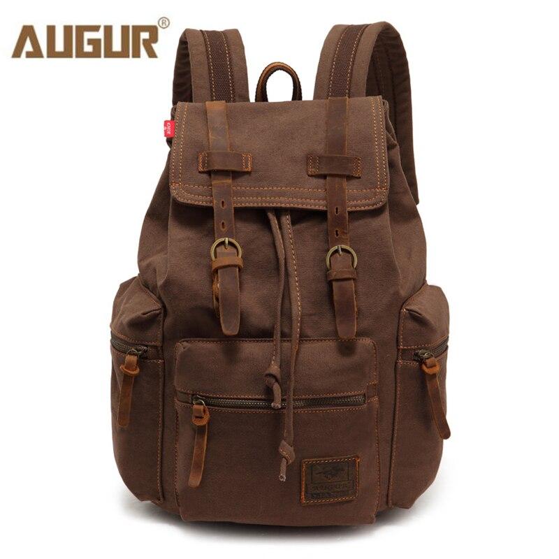 AUGUR Neue mode männer rucksack vintage leinwand rucksack schule tasche männer reisetaschen große kapazität reise laptop rucksack tasche