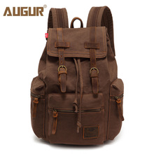 Canvas Backpack Travel-Bags School-Bag Large-Capacity Vintage AUGUR New-Fashion