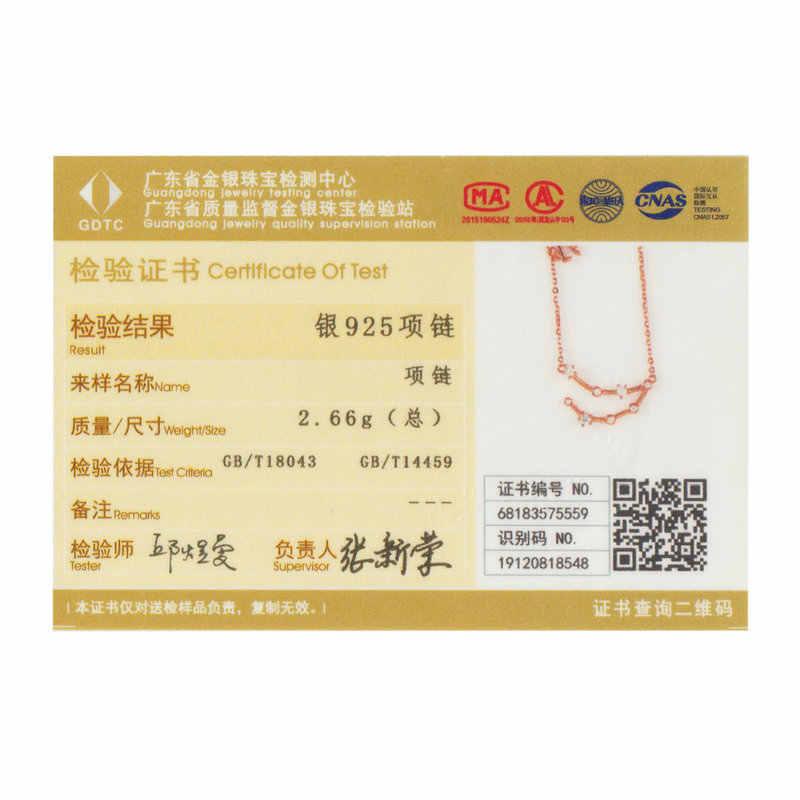 BAMOER Зодиак ожерелье 12 видов стилей весы Рак символ кулон ожерелье s для женщин розовое золото цвет 925 серебро ювелирные изделия GAN015