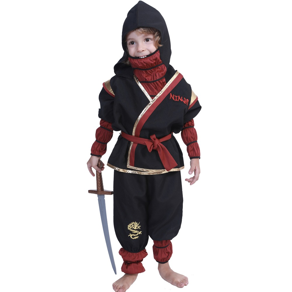 Black ninja costumes Halloween party children costumes Japan cosplay children movie roles Naruto boy and girl clothes