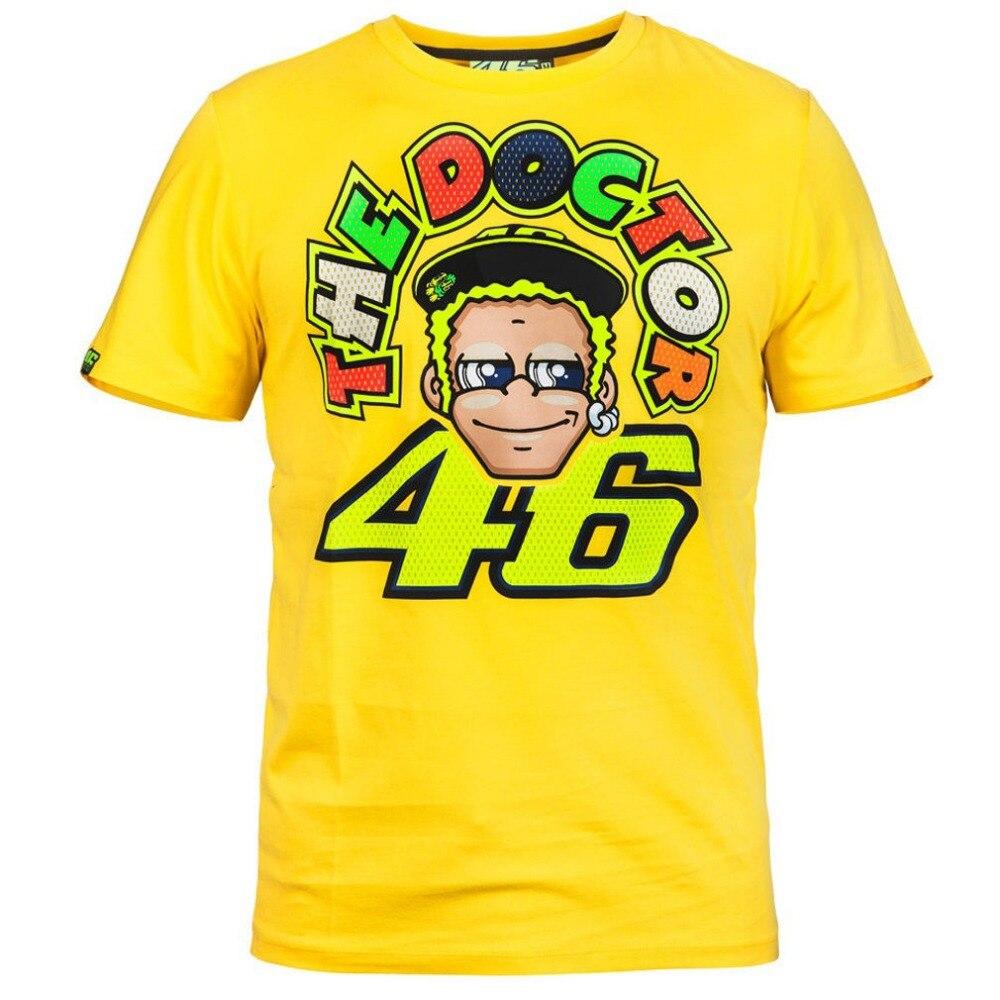 7b695cb693 Envío libre 2016 Nuevo oficial Valentino Rossi VR46 amarillo el doctor  t shirt moto rbike moto Racing Jersey camisa