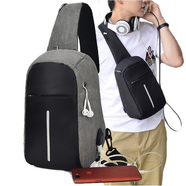 Fashion Multifunction Small Man Chest Bag Multi-pocket Phone Men Crossbody Bag Chest Pack Weekend Shoulder Messengers Bag 2019