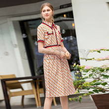 Cuerly Milan Runway Designer High Quality 2019 Summer New WomenS Fashion Party Boho Beach Sexy Vintage Elegant Chic Print Dress